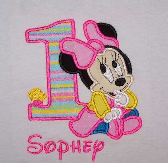 Personalized Custom Baby Minnie Mouse 1st Birthday Party Shirt SHIPS FREE 2600 Via Etsy
