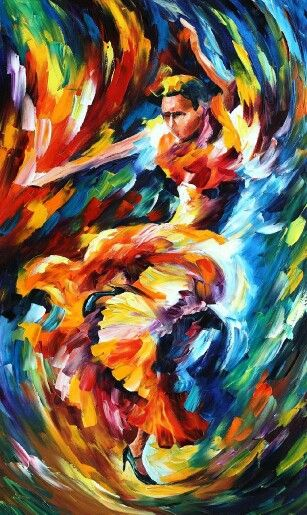 "IN THE ZONE — Palette knife Oil Painting on Canvas by Leonid Afremov - Size 24""x40"""