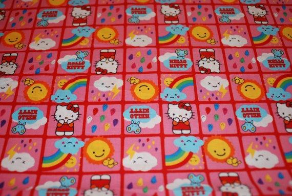 Hello Kitty Rain or Shine Small Block by Loriscountryfabrics, $7.95Kitty Rain, Sales, Shinee Small, Hello Kitty, Small Block
