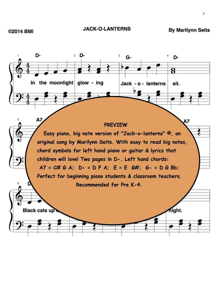 16 besten Halloween sheet music for young piano students on my web ...