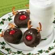 Renos con donas de chocolate