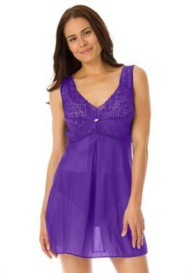Lace-bodice babydoll by Amoureuse® | Plus Size Nighties | Roamans