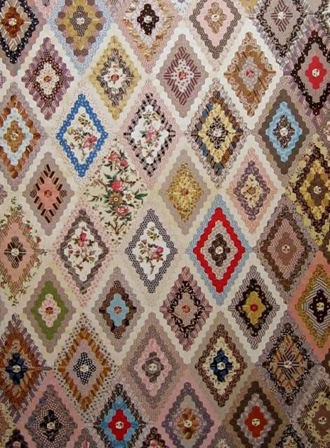 New Mary Tolman's Hexagon quilt, 1857 | Quilts: Antique | Pinterest &RB02