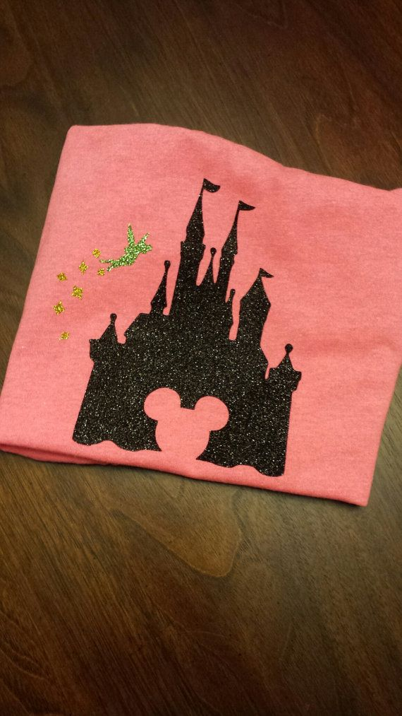 Castle with fairy. Go check it out!! Etsy listing at https://www.etsy.com/listing/222166515/castle-with-fairy-vinyl-shirt