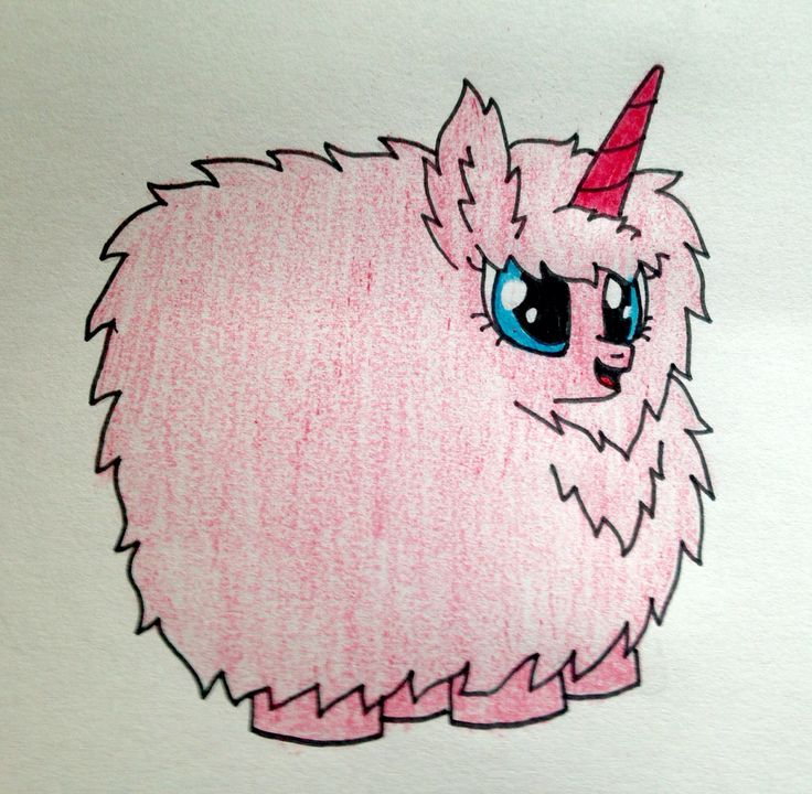 Pink Fluffy Unicorn Dancing On Rainbow