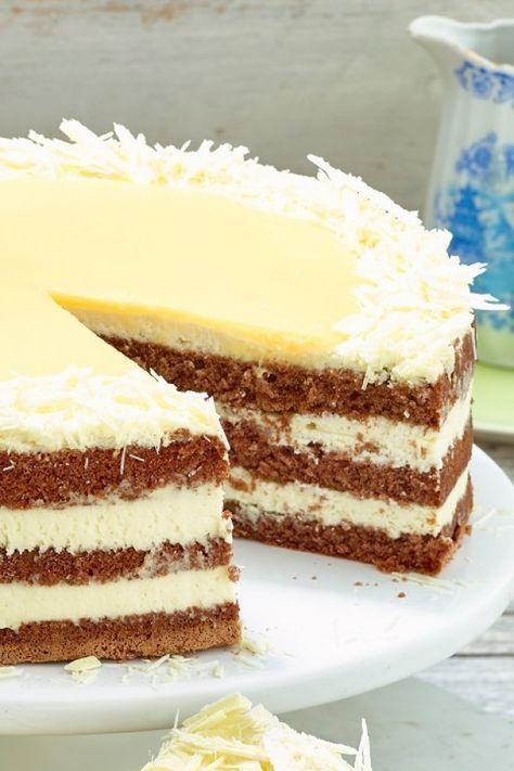 Einfach und schnell: weißer Schokoladen-Eierlikör-Kuchen