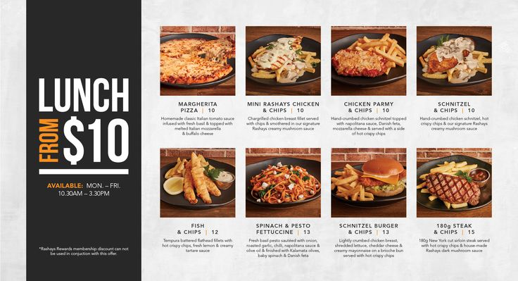 Hot Specials - Rashay's Pizza Pasta Grill Restaurant - Sydney Australia