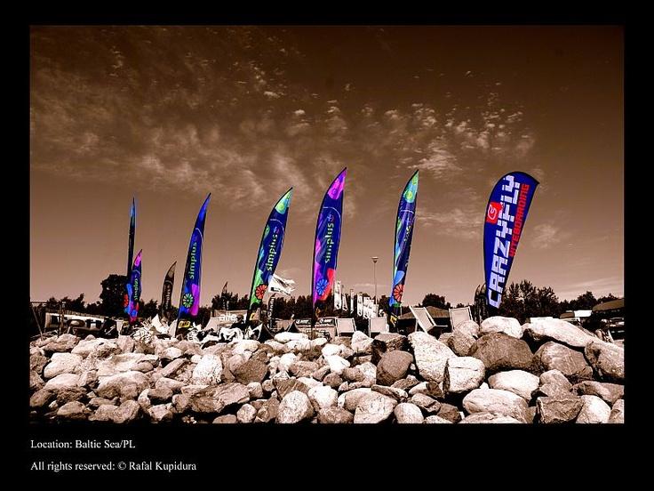 windurfing/kitesurfing spot at the Baltic seaside