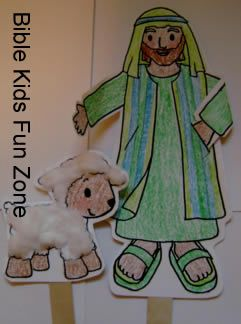Moses Puppet Craft And Fuzzy Sheep Puppet Craft