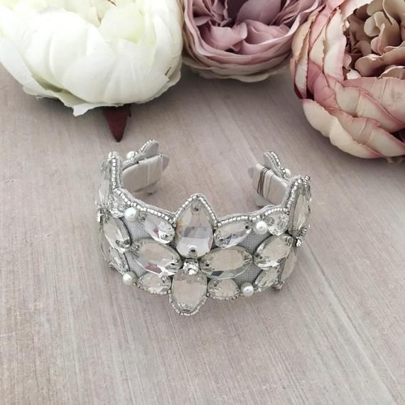 Lulia Crystal Headband Gold Sample Sale Britten Weddings
