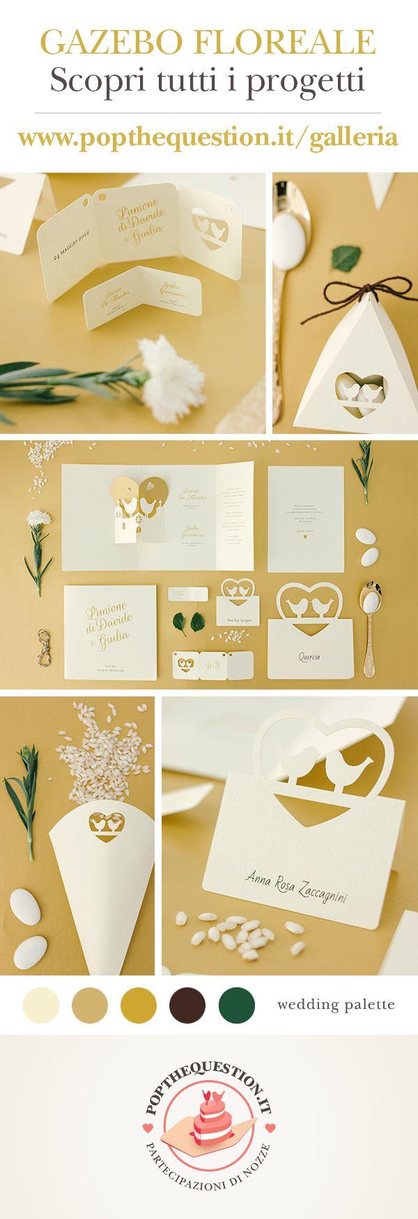 Pop-up Chiesa Oro e Avorio, Gold palette wedding! #matrimonio #popup #palette #wedding #chiesa #paper #invitation #stationary #gold #church