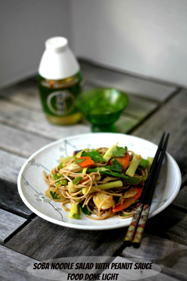 I'd Asian noodle salad peanut sauce spunking