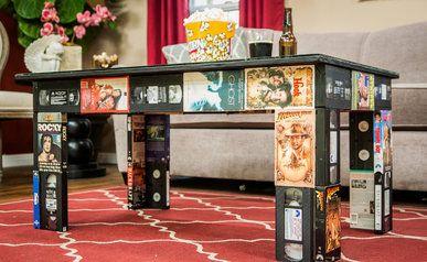 DIY VHS Coffee Table