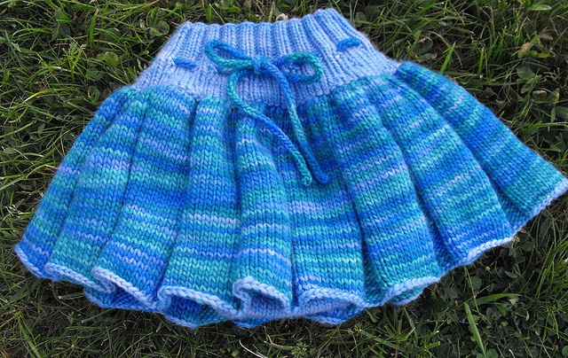 Girly Girl Skirtie (Ravelry) - just started this: soaker - Paton's Classic Wool Seafoam w/ Fishermen's Wool Natural (double-strand), skirt - Lion Brand Amazing Carnival