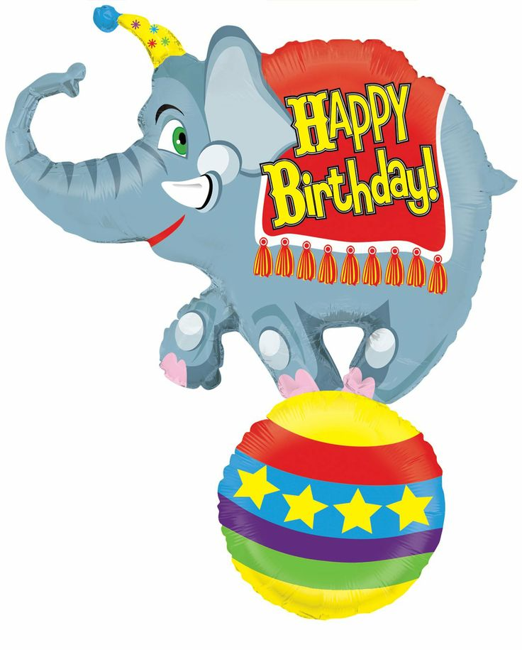 Elephant Theme 3rd Birthday Party: 164 Best Images About Balloon's Shape On Pinterest