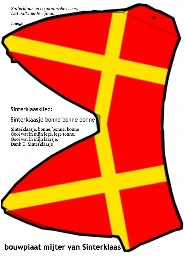 #Bouwplaat #mijter van #sinterklaas