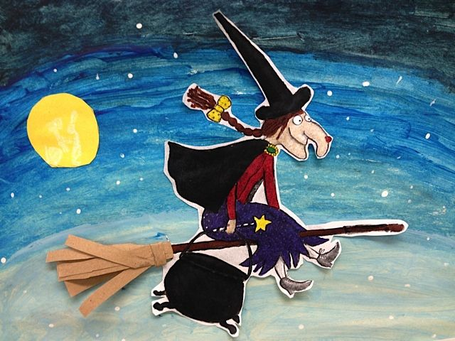Room on the Broom art idea from The Primary Patch