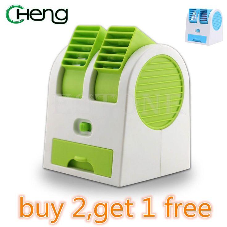 Mini Small Fan Cooling Portable Flexible Desktop Dual Bladeless Air Conditioner  For Laptop Desktop Computer USB Interface hot #Affiliate