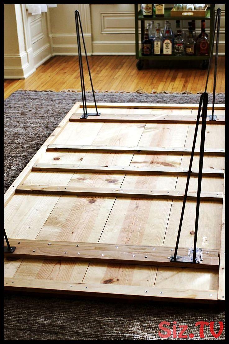 4 Lange Dielen Fur Die Oberseite 9 Kleinere Dielen Die Die Unterseite Die Dielen Esszi Diy Esstisch Diy Mobel Tisch Tisch Selber Bauen