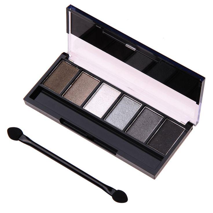6 Kleuren Oogschaduw Palet Glamoureuze Smokey Oogschaduw Shimmer Kleuren Make Kit Hoge Kwaliteit Langdurige Oogschaduw Make