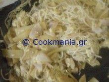Τηγανιτά noodles με μπαμπού και κοτόπουλο