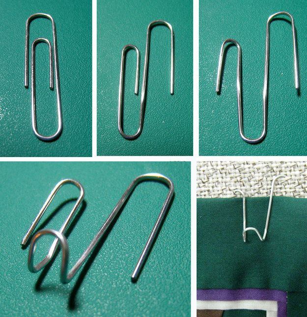Things To Hang Pictures On Walls Part - 28: Make Hanging Clips For Your Cubicle Walls With This Paper Clip Hack. | 54  Ways