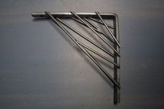 Industrial Modern shelf brackets Metal shelving by IndustrialEnvy