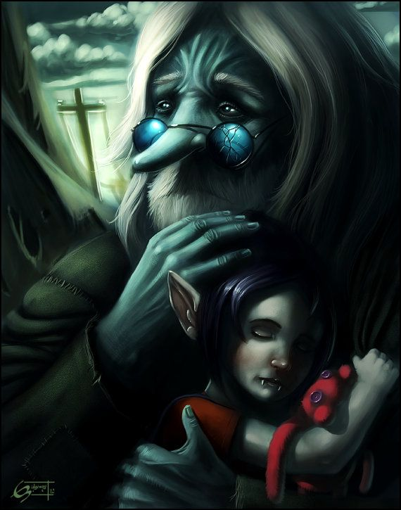 I Will Remember You by RidgewayIllustration Marceline and The Ice King :'(