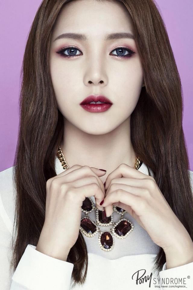 Pony (makeup artist) collaboration with Etude House.maybe without the  contacts.