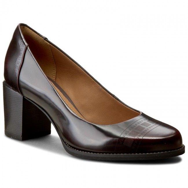 Polobotky CLARKS - Tarah Sofia 261106514 Burgundy Leather