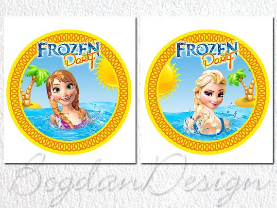 INSTANT DOWNLOAD Frozen Centerpiece. Frozen Cake by BogdanDesign, $4.00