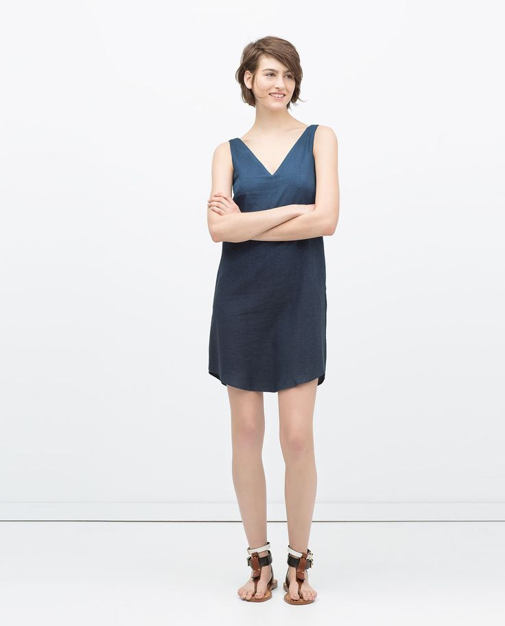 Image 1 of OMBRE INDIGO DRESS from Zara