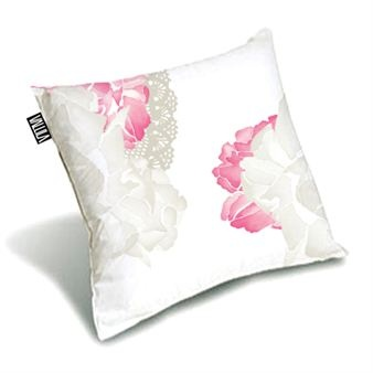 Sophia cushion cover in pink & silver