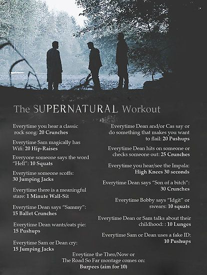 Supernatural Workout Inspiration