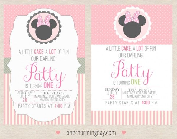 free minnie mouse party printables