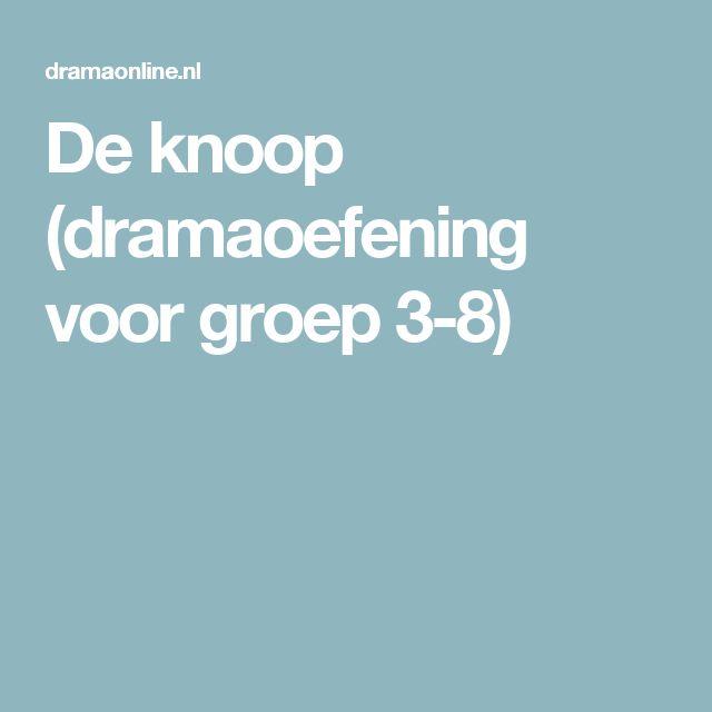 De knoop (dramaoefening voor groep 3-8)