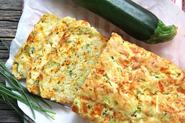 Zucchini, Cheddar Cheese & Chive Buttermilk Quick Bread