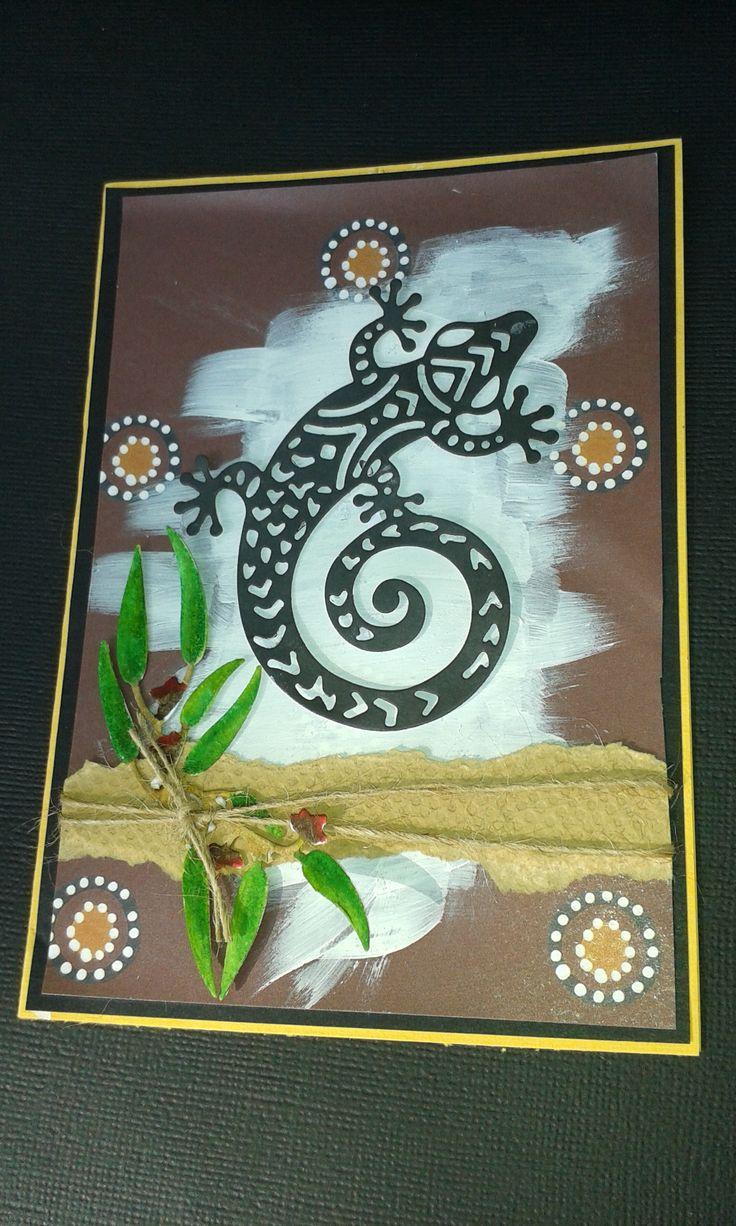 Ultimate crafts Australiana - Gecko, Ironbark branch