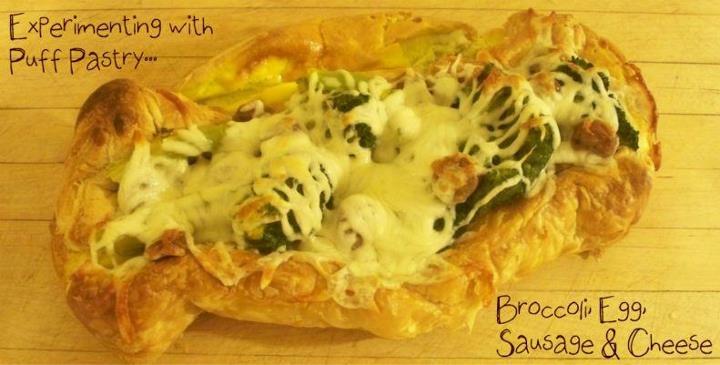 Broccoli, Egg, Sausage and Cheese. Thanks Mare!