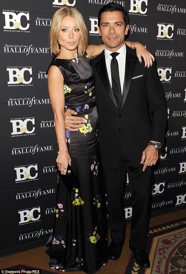 It's a date: Kelly Ripa and her husband Mark Consuelos got all dressed up to attend the Broadcasting And Cable Hall Of Fame Awards in New York on Monday