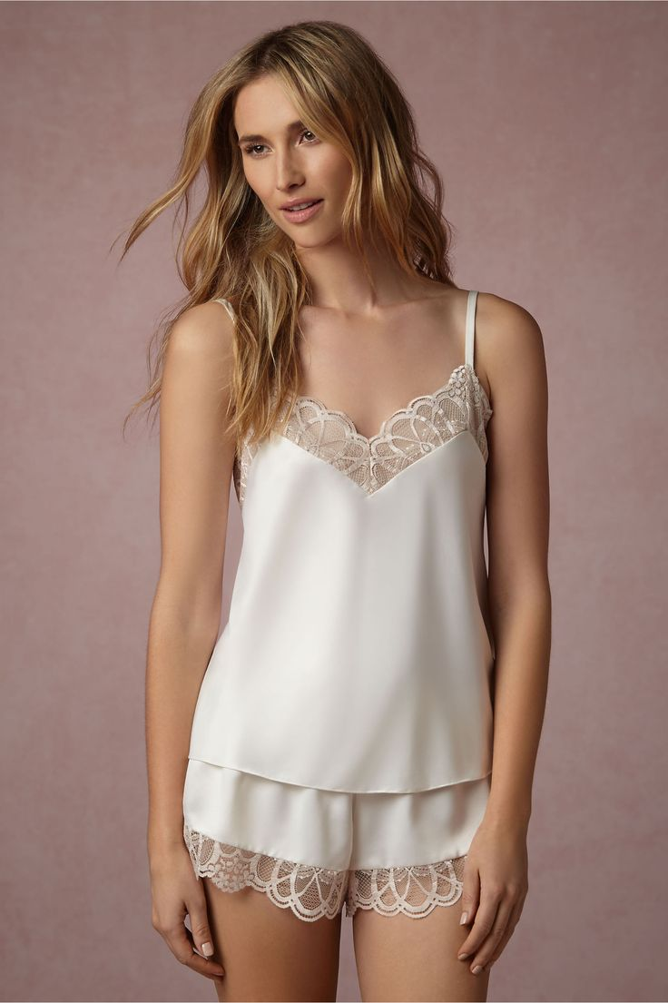 BHLDN Cosette Camisole in  Bride Bridal Lingerie at BHLDN