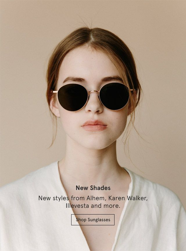 New Shades: New styles from Alhem, Karen Walker, Illevesta and more. Shop Sunglasses.