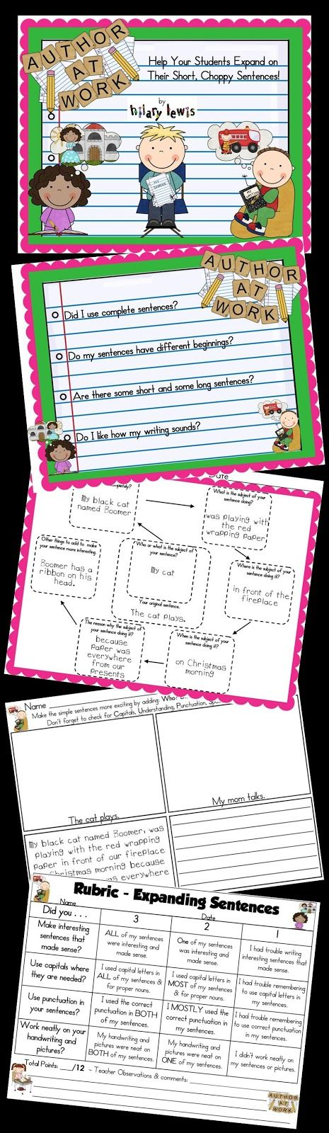 Rockin' Teacher Materials: Expanded Sentence Examples & CCSS FREEBIE for Spelling!
