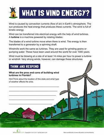 Worksheets: What is Wind Energy