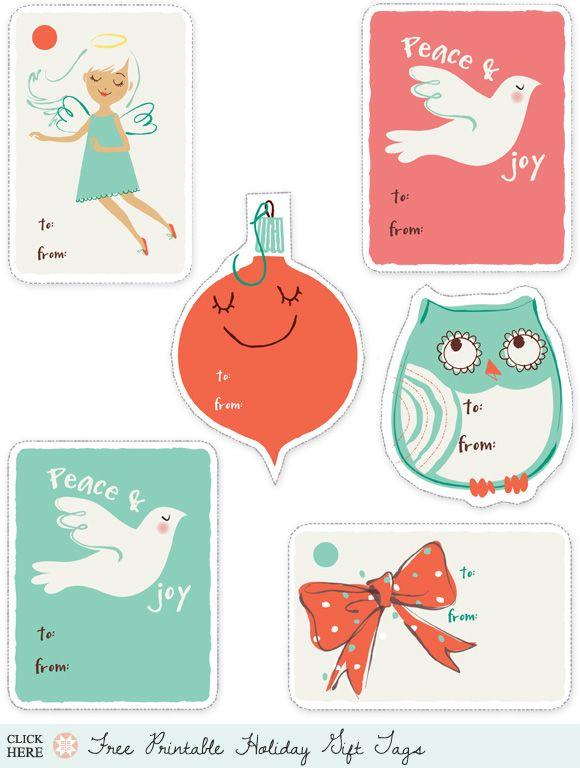 Printable Christmas tags :)