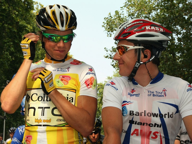 GERAINT THOMAS CAREER GALLERY  Thomas and soon-to-be team-mate Edvald Boasson Hagen at the 2009 Tour of Britain