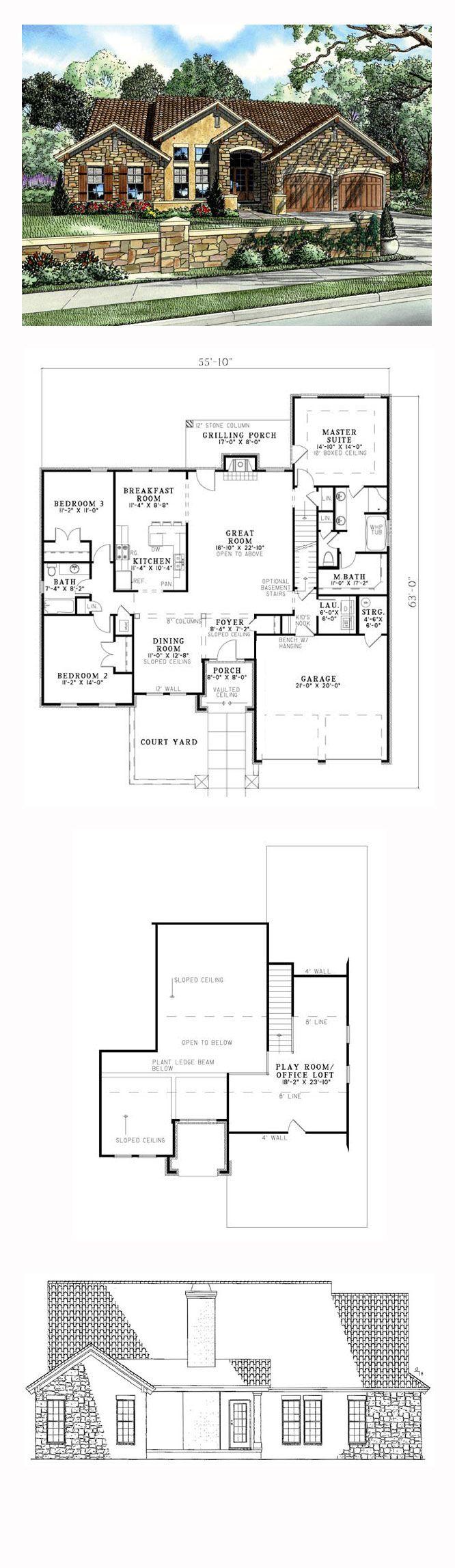 48 best italian house plans images on pinterest italian houses craftsman italian mediterranean house plan 82109