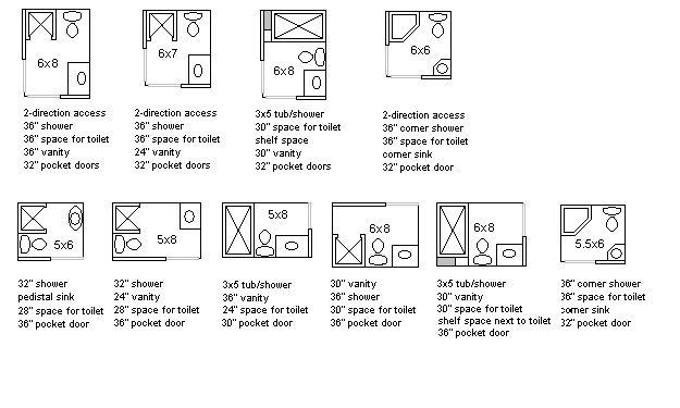 Small 3 4 Bathroom Floor Plans: Tiny Bathroom Layouts