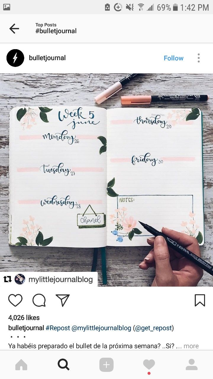 Pink summer spread  bujo bullet journal weekly   Pinterest @alichristin4