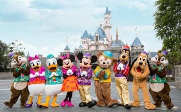 HK Disneyland in the summer